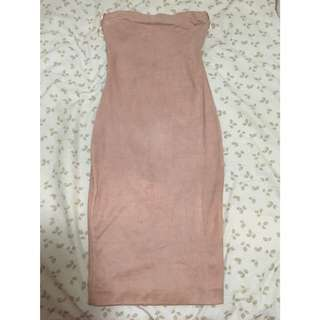 Bodycon Suede Dress from Live