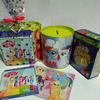 Customised My Little Pony 100mm Coin Box Goodie Pack