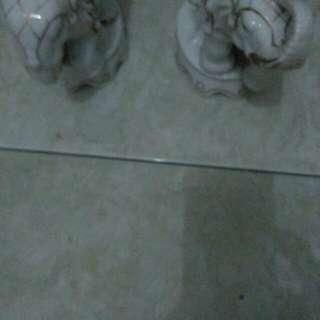 Pajangan keramik gucci gajah kecil mulus