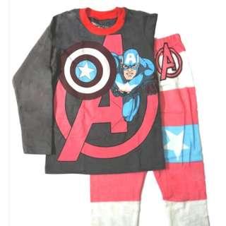 captain america super hero pj pyjamas