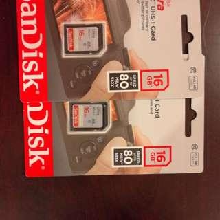 SanDisk 16GB 80mb/s Memory Card