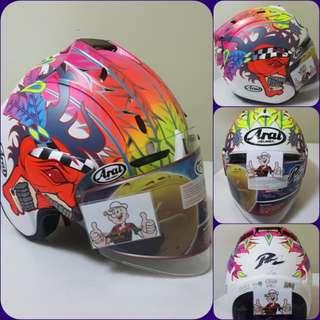 2301♡♡TSR RAM4 SCOTT RUSELL Helmet CONVERT TO ARAI 🦀 For SALE, Yamaha Jupiter, Spark, Sniper,, Honda, SUZUKI