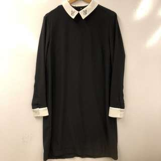Victoria Beckham rabbits black dress size XL