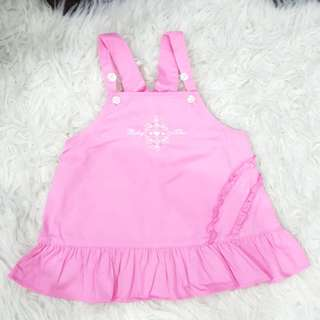 Baby Girl's Pink Overall Dress (12-18months)