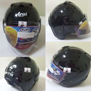 2301--- TSR RAM4 Helmet Black with Dark Tinted Visor CONVERT TO ARAI 🦀 For SALE, Yamaha Jupiter, Spark, Sniper,, Honda, SUZUKI