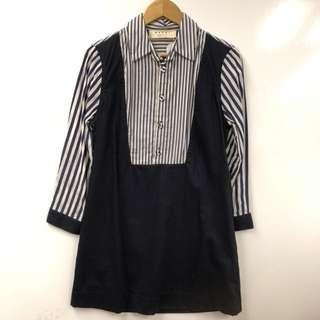 Marni dark blue shirt style dress size M