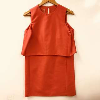 Giambattista Valli red vest dress size 40