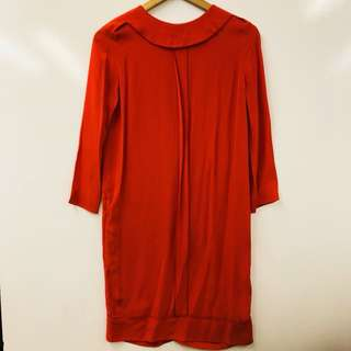 Victoria Beckham red one piece dress size I 38