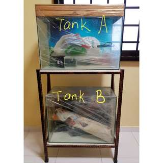 Fish tank (with rack)