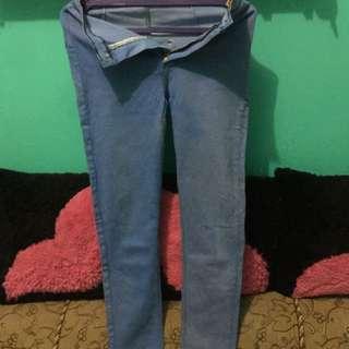 celana jeans blue