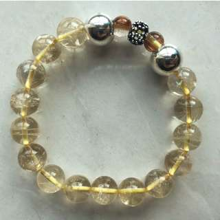 Citrine bracelet with pure silver