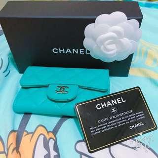 Chanel coins bag Tiffany blue