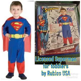 Official Licensed Superman Costume for size 2-4T by Rubies MADE IN USA