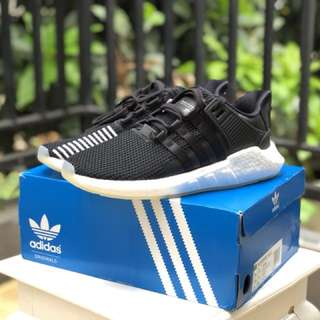 Adidas Originals EQT Support 93/17 Black Leather