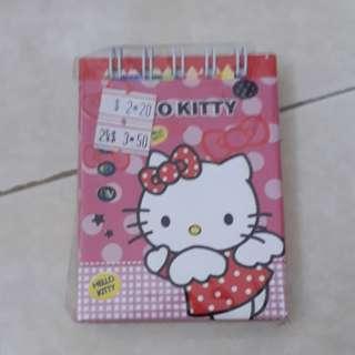 Hello Kitty Ezlink note pad