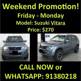 Suzuki Vitara Weekend Promotion