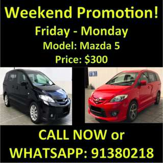 Weekend Promotion Mazda5
