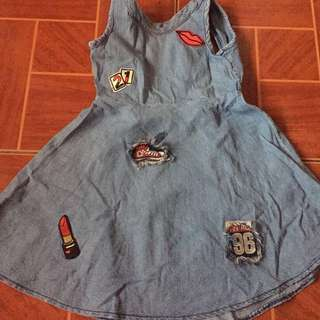 Denim Patch Dress