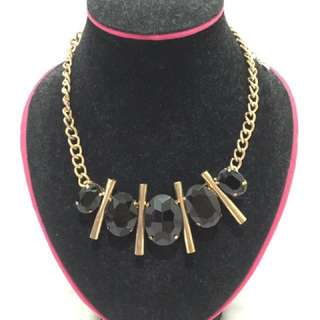 Kalung / necklace fashion black / hitam