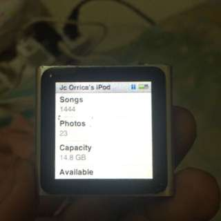 iPod Nano 6th Gen 16gb Unit