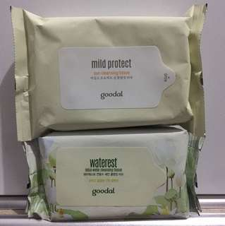 Sun/water cleansing tissue