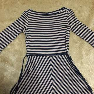 Uniqlo Brown Beige Stripes Dress