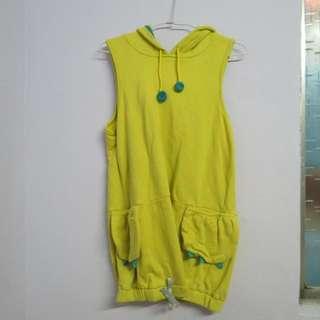 黃色背心洋裝