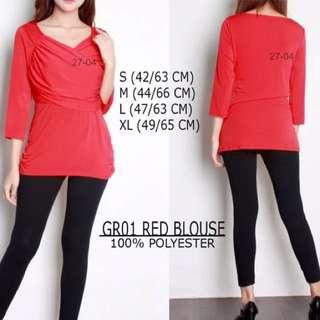 Branded GR01 Red Blouse