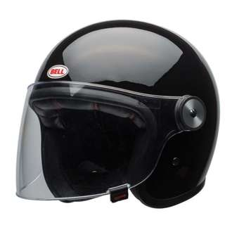 Bell LE Riot Gloss Black Open Face Helmet Bell Riot Gloss Limited Edition Luxury Open Face Helmet SIZE LARGE ONLY Motorbike Motorcycle Cruiser Touring
