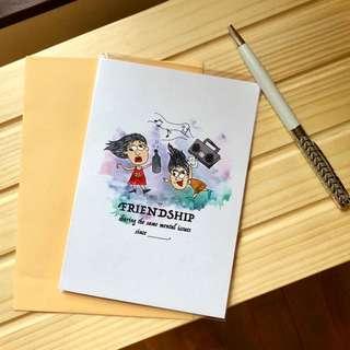 A6 Friendship Card