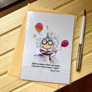 A6 Happy Birthday Greeting Card