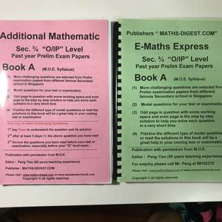 Upper Sec A math E math prelims paper/ revision papers