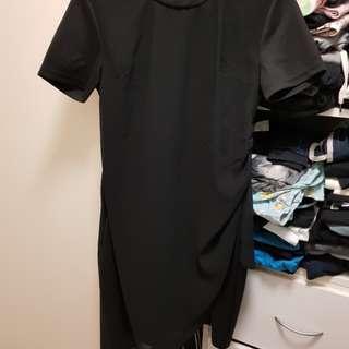 Black drape dress
