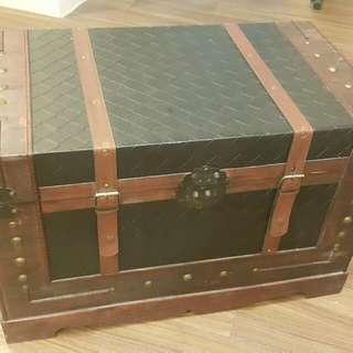復古藏寶收納箱 (可當茶几)