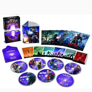 Marvel Studios Cinematic Universe Phase One and Two bluray boxset | 14 discs