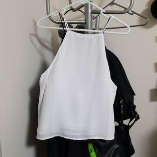 White strappy flowy top