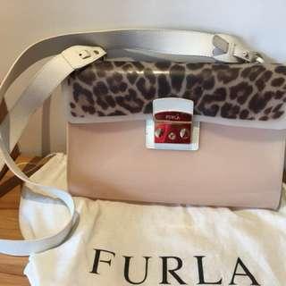 [正貨特賣⚡️Sale]FURLA 膠+皮 大容量 側手袋 (99%新)
