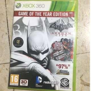Xbox 360 Batman Arkham city goty edition