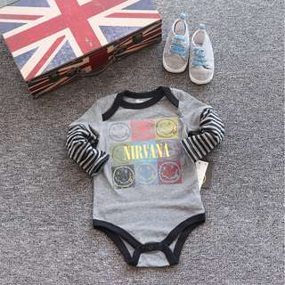 <NEW> Baby Rompers - Nirvana Band Rompers <In-stock>