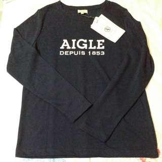 Aigle Dry Fast 深藍色長袖top