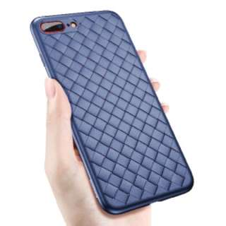 BV 編織系列保護套 iPhone 7 Plus 保護殼(藍色)送全屏黑色絲印保護貼 Baseus BV Series Full Protection Mobile Cover case For iPhone 7 Plus(Blue) Free Full Coverage Premium 9H Hardness Tempered Glass Film Screen Protector ( Black Screen Print ) For iPhone 7 Plus