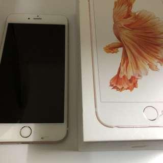 Iphone 6S Plus 128GB Rose  玫瑰金 (Mon 右下角有裂)