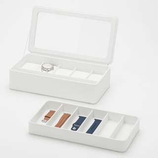 Apple Watch box with strap tray - White color