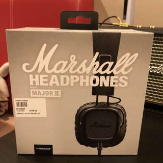 MARSHALL Pitch Black Major2 Headphone
