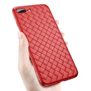 BV 編織系列保護套 iPhone 7 Plus 保護殼(紅色)送全屏黑色絲印保護貼 Baseus BV Series Full Protection Mobile Cover case For iPhone 7 Plus(Red) Free Full Coverage Premium 9H Hardness Tempered Glass Film Screen Protector ( Black Screen Print ) For iPhone 7 Plus