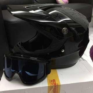 Glossy full Face helmet