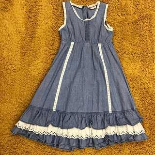 Poney Denim Dress