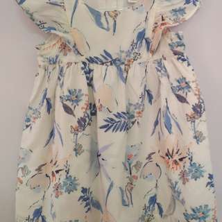 Old Navy blue floral dress