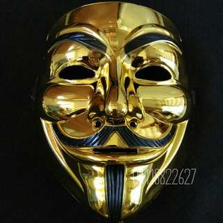 TOPENG MUKA MASK VENDETTA ANONYMOUS GOLD
