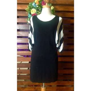 Black & White Batwing Dress